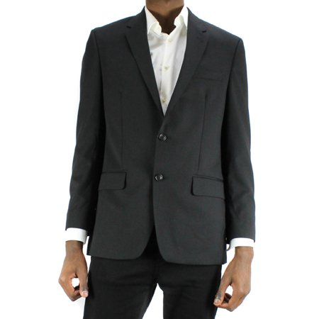 Alfani  Black Cord Tex Wool Blend Suit Jacket