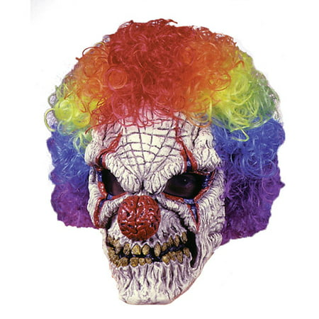 Clown Adult Halloween Mask with Wig