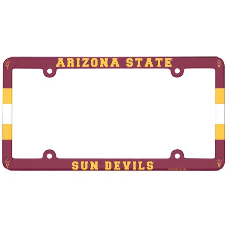 Arizona State Sun Devils WinCraft Full Color Plastic License Plate Frame - No Size
