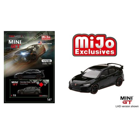 Honda Civic 2.0 Type - MINI GT 1:64 MIJO EXCLUSIVE - 2017 HONDA CIVIC TYPE R (FK8)(LHD)(CRYSTAL BLACK) - MGT00015-MJ