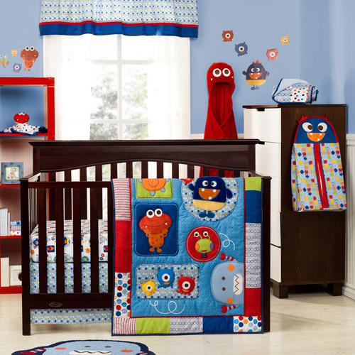 Graco Baby Monsters 3 Piece Crib Bedding Collection Set Value Bundle