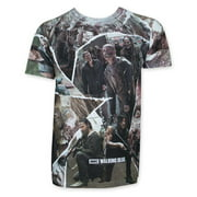 Walking Dead Character Panel Sublimated T-Shirt-Small