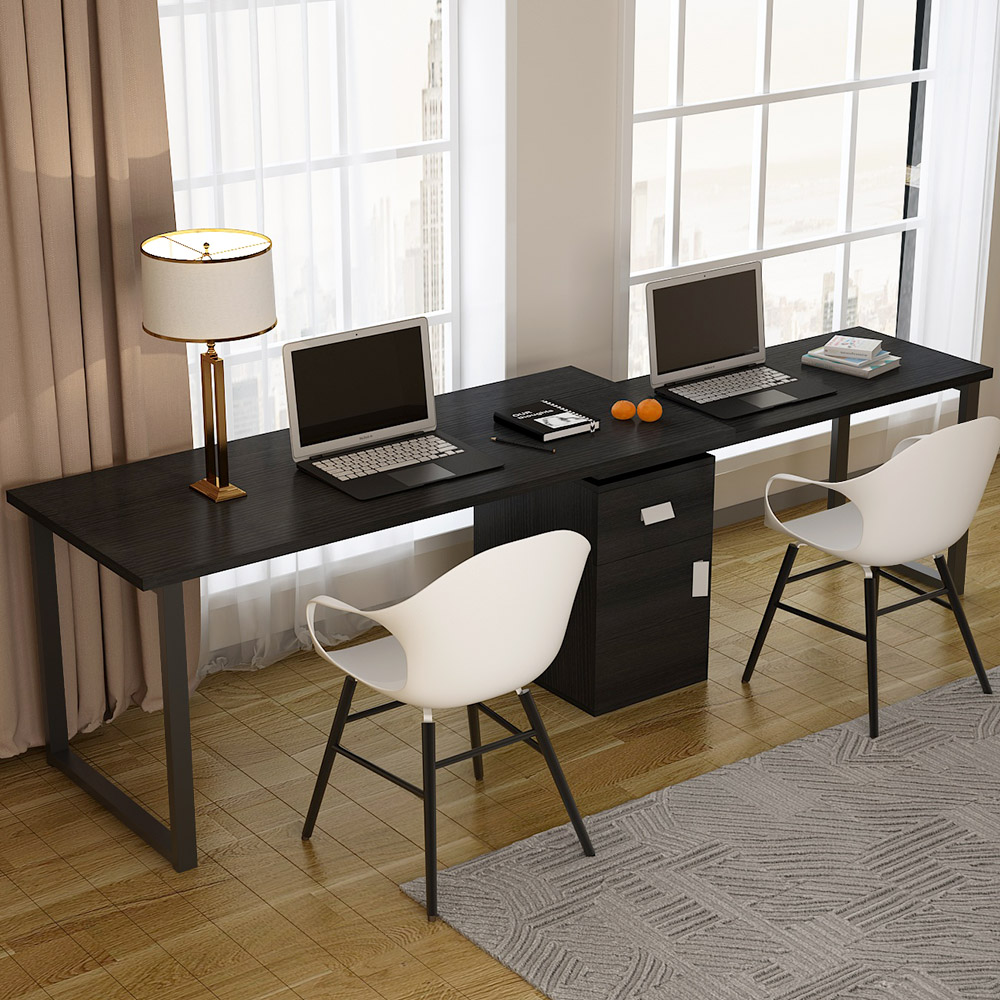 Tribesigns Rotating L Shaped Computer Desk 55 Inches Modern Corner Computer Desk Large Study