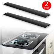 """TSV 2 pack Silicone Kitchen Gap Cover, Black Silicone Gap Fillers, 21"""" Premium Silicon Kitchen Space Fillers, T-Shaped Counter Stove Gap Covers"""