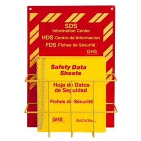 MSDS Right-To-Know Center, 3 language- Includes MSDS sign, 3 inch binder, and wire