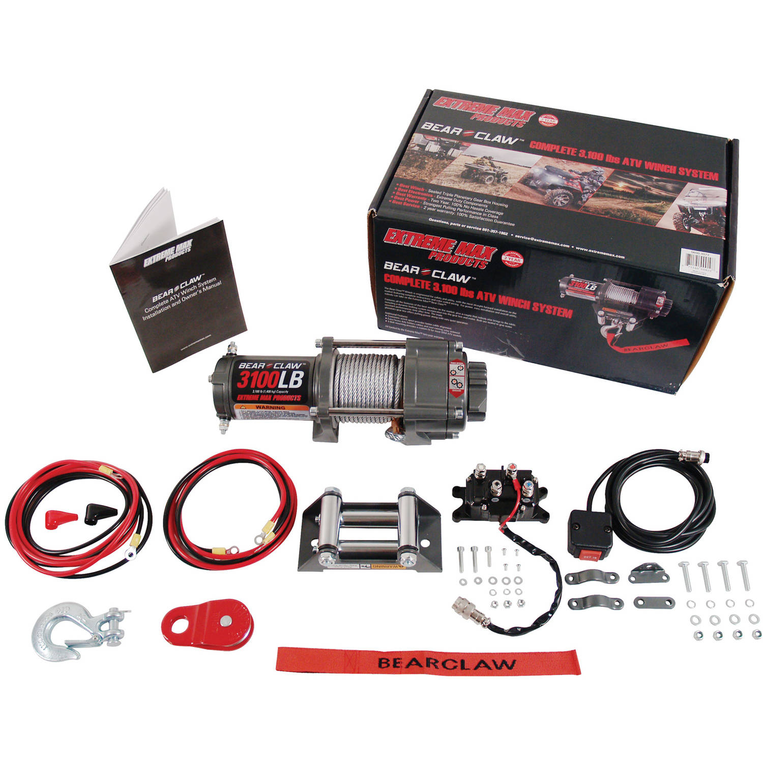 Extreme Max Bear Claw ATV Winch