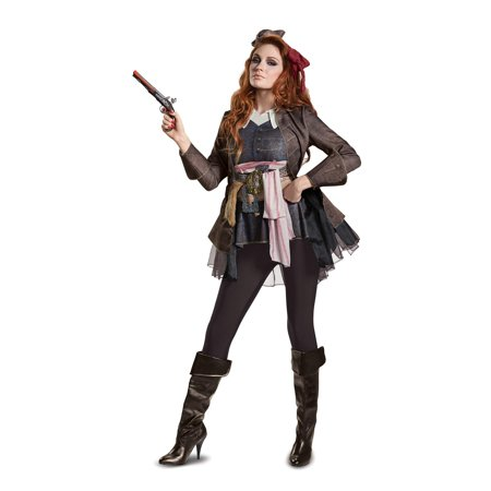 Pirates of the Caribbean 5: Captain Jack Female Deluxe Adult Costume M](Female Ringleader Costume)