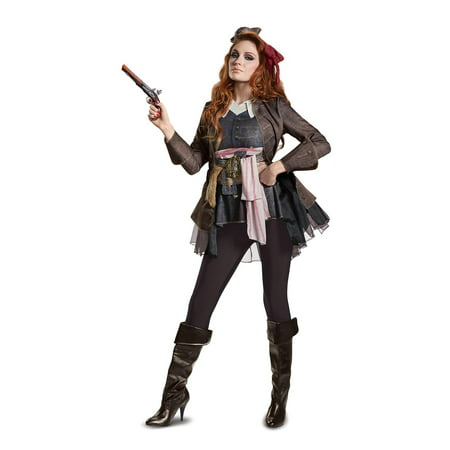 Pirates of the Caribbean 5: Captain Jack Female Deluxe Adult Costume M](Female Matador Costume)