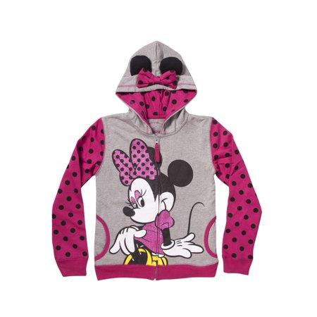 Disney Girls' Youth Minnie Costume Hoodie](Disney Hoodies)