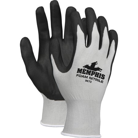 Memphis, MCSCRW9673S, Shell Lined Protective Gloves, 1 Dozen, Gray,Black - Palm,White - (Marmot Glide Soft Shell Gloves)