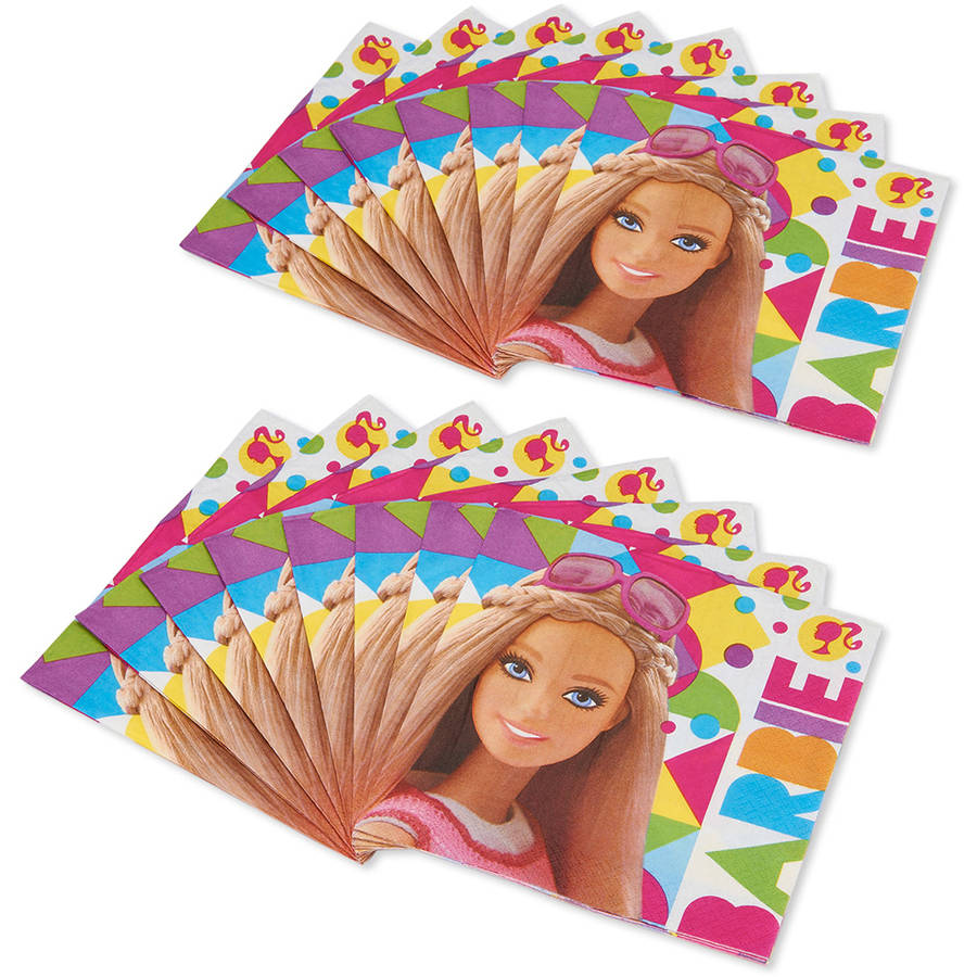 Barbie Lunch Napkins, 16 Count, Party Supplies