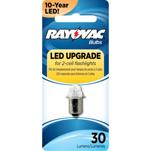 Rayovac 3V LED Replacement Bulb, 2 Cell