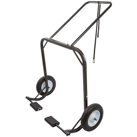 - Snowmobile Dolly Cart, Hoist & Lift with Large Pneumatic Wheels