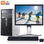 """HP Desktop Computer Bundle with Intel Core 2 Duo Processor 4GB of RAM DVD 300Mps Wifi with a 17"""" LCD and Windows 10-Refurbished"""