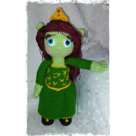Crochet pattern Princess Fiona (shrek) by ternura amigurumi - eBook - Princes Fiona