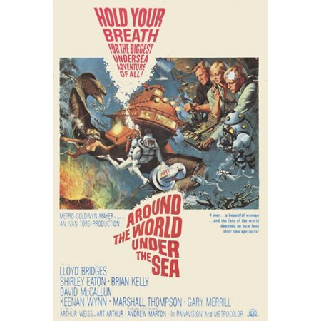 Around the World Under the Sea Movie Poster (11 x - Under The Sea Topic Ideas