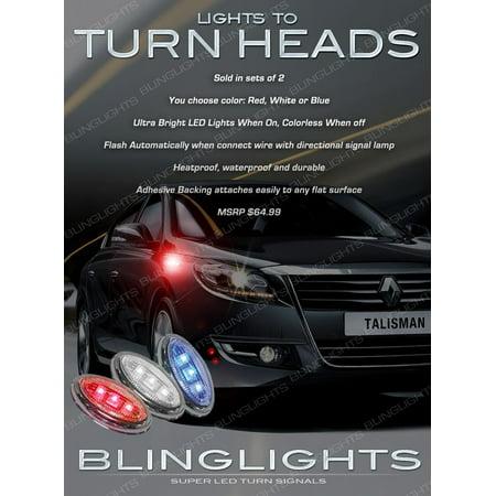 Renault Samsung SM7 LED Flush Mount Turn Signal Lights Marker Accent Lamps Set Blinker Pair Led Turn Signal Set