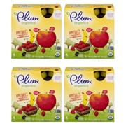 (4 Pack) Plum Organics Applesauce Mashups Strawberry & Banana, 3.17oz, 4-pack