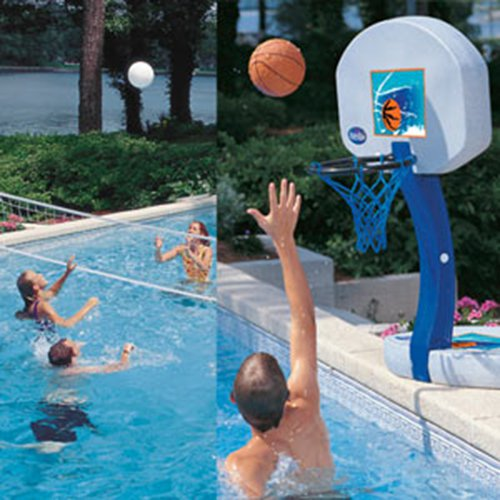 SwimWays 2-in-1 Basketball and Volleyball Pool Game by SwimWays