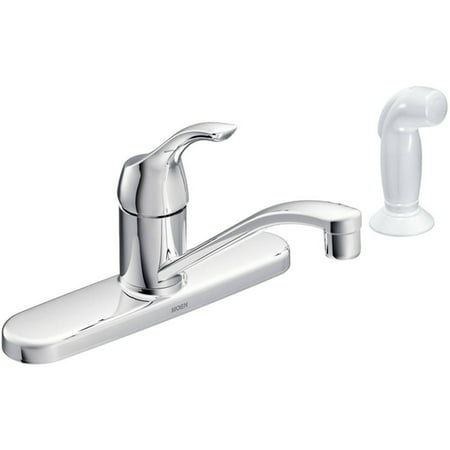 Moen CA87551 Chrome Touch Control 1-Handle Low Arc Kitchen Faucet Control Four Hole Kitchen Faucet
