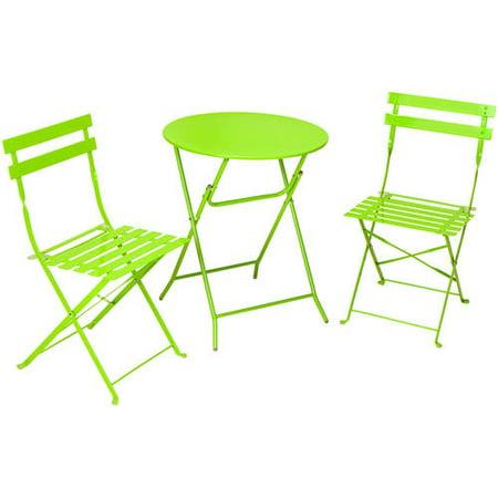Cosco 3pc Patio Folding Bistro Set - Bright Green