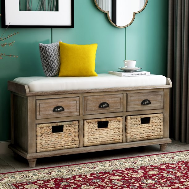 Shoe Bench For Home Use With 3, Living Room Bench Storage