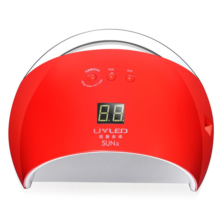 SUN6 48W Quick Dry UV 21 LED Adjustable Time Nail Dryer Lamp All Gels Polish