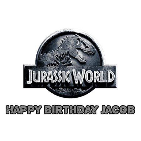 1 4 Sheet Jurassic World Logo Edible Frosting Cake Topper 74174