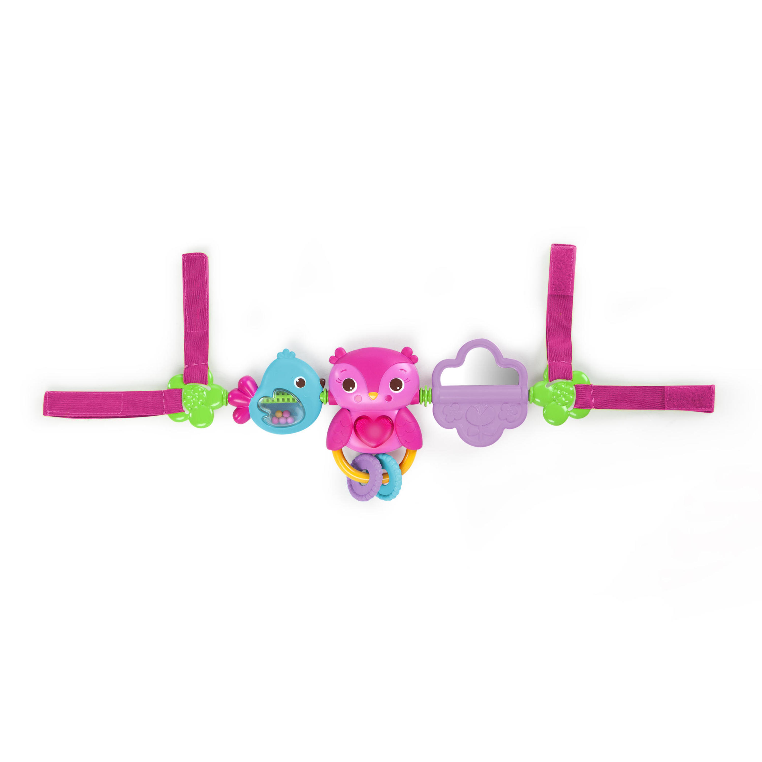 Bright Starts Busy Birdies Carrier Toy Bar Take Along Toy