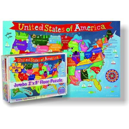 RWPKP04 United States Floor Puzzle for Kids, 24