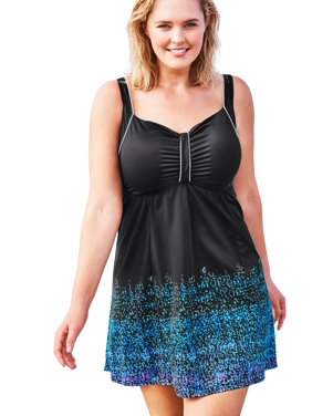 Swim 365 Women's Plus Size Retro Swim Dress