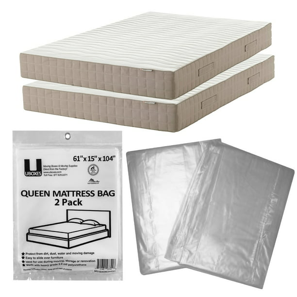 Uboxes Mattress Cover Moving Storage, Plastic Mattress Storage Covers