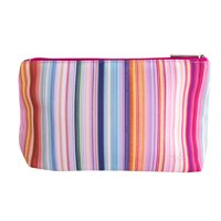 Clinique Multicolor Rainbow Lines Cosmetic Makeup Travel Bag