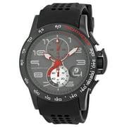 M4 Series Black IP Steel Black Silicone Mens Watch 0404