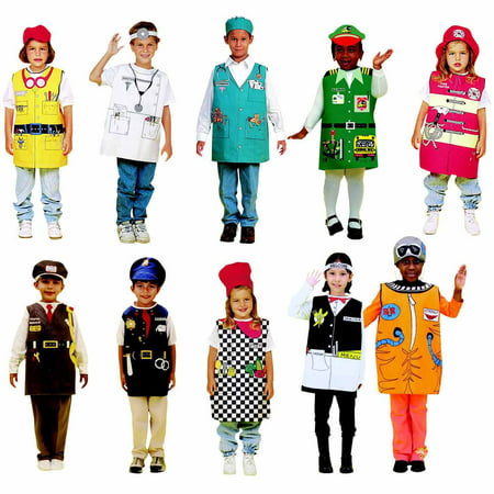 Childcraft Occupations Costumes with Hats for Children, Set of 10](Beekeeper Hat Costume)