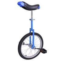 "GHP Blue Manganese Steel 18"" Wheel Skid-Proof Tire Aluminum Alloy Rim Unicycle"