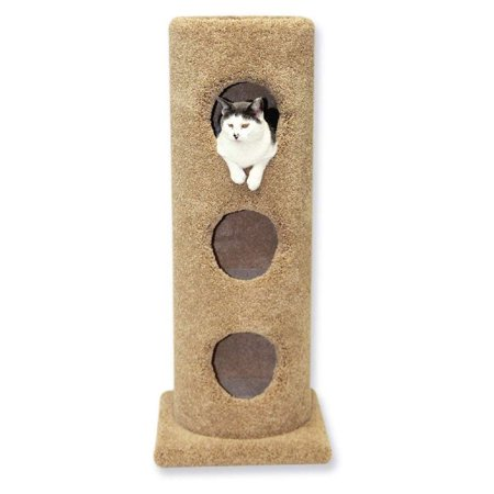 Beatrise Pet Furniture 3 Story Carpeted Cat Condo Tower House Tree Post w/