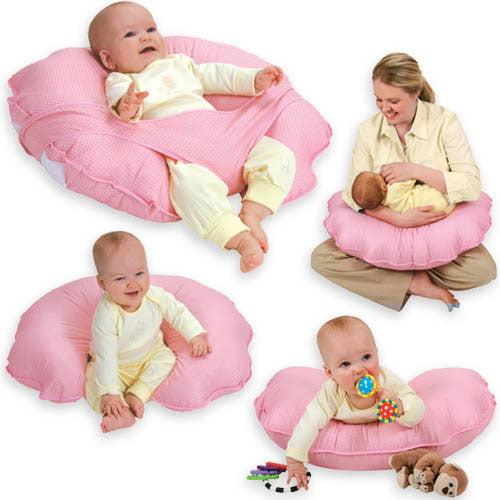 Leachco - Cuddle-U Basic Nursing Pillow and More, Pink Dots