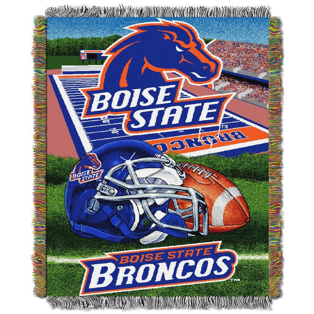 Boise State Woven Tapestry Blanket