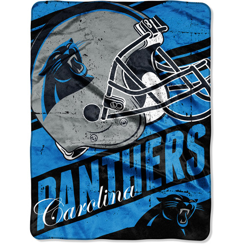 "NFL Micro Raschel Deep Slant 50"" x 60"" Throw, Carolina Panthers"