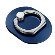 Oval Hand Ring Mobile Phone Stand Holder Smart Phone Car Mount Stand Grip Ring Accessories (Blue)