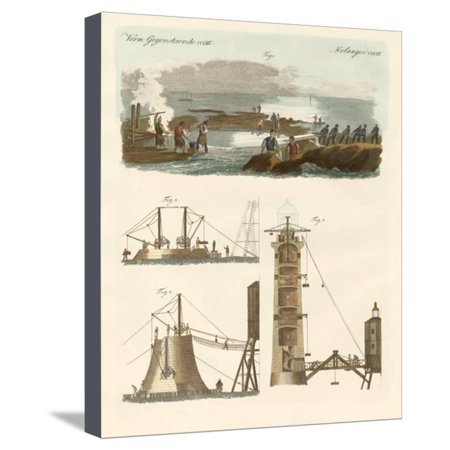 Bell Rock Lighthouse - Bell Rock Lighthouse Stretched Canvas Print Wall Art