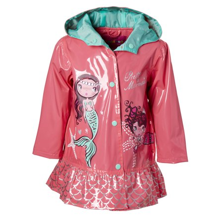 Mermaid Peplum Rain Jacket (Baby Girls & Toddler Girls)