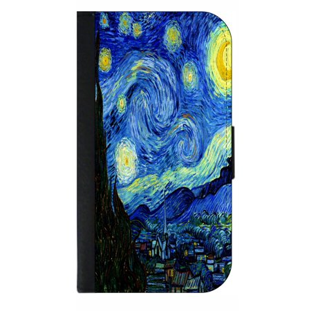 finest selection 3db23 7c8c6 Artist Vincent Van Gogh's Starry Night - Phone Case Compatible with the  Samsung Galaxy s9 - Wallet Style with Card Slots