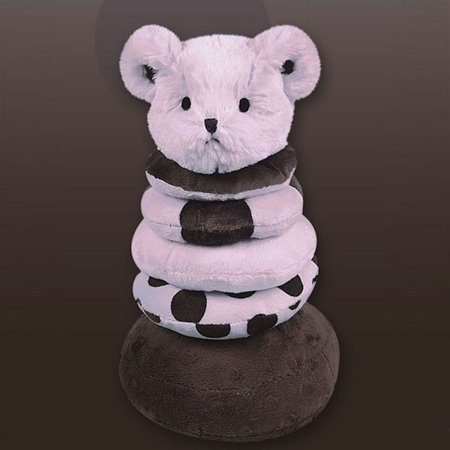 Bearington Baby 198679 Posh Dots Plush Ring Stacker