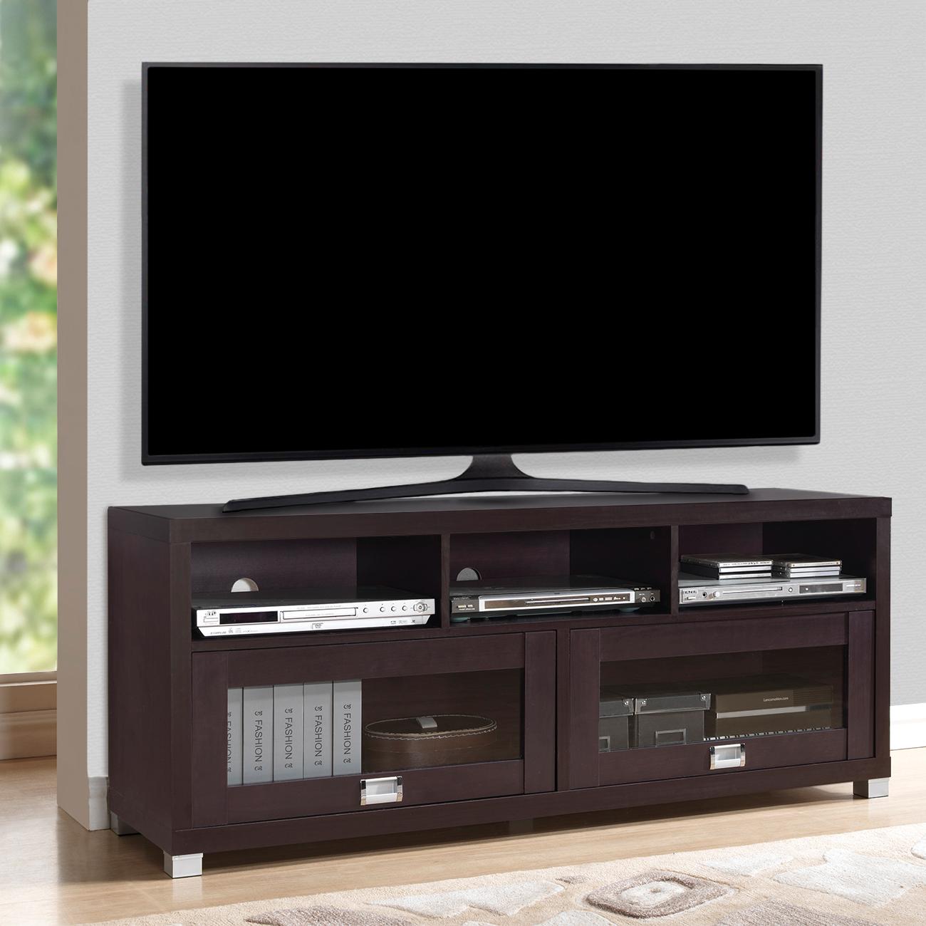 """Techni Mobili Durbin TV Cabinet for TVs up to 75"""", Espresso"""