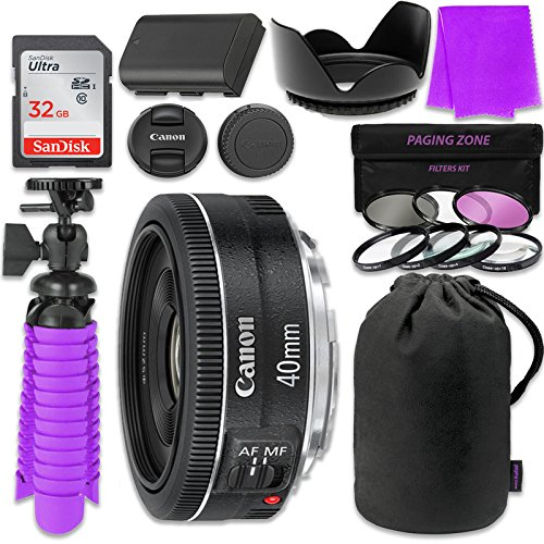 Canon EF 40mm f/2.8 STM Lens Bundle w/ SanDisk 32GB Memor...