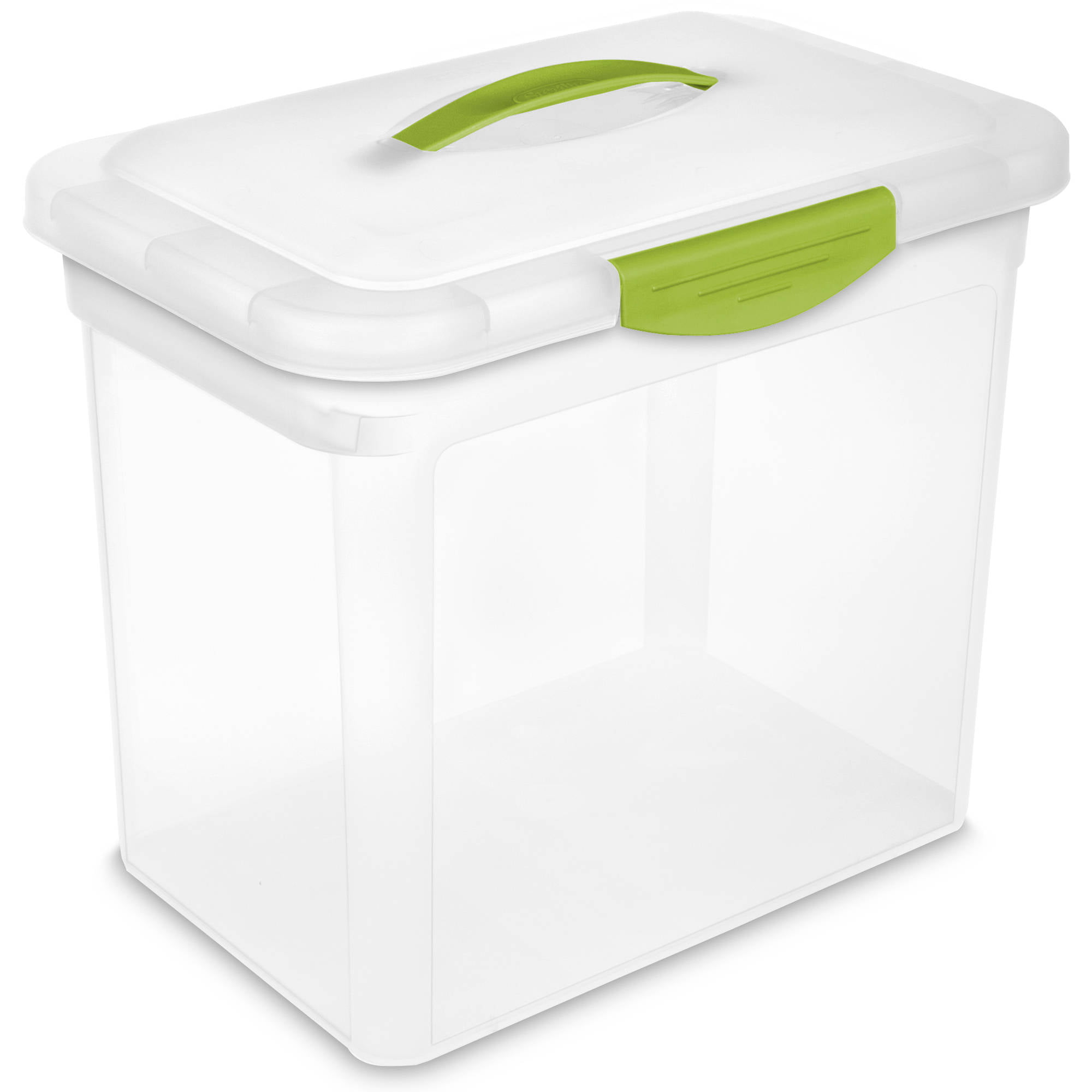sterilite 58quart storage box white available in case of 8 or single unit walmartcom