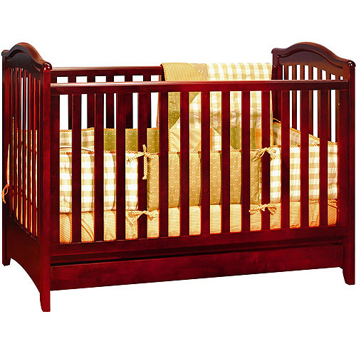 Image of AFG Baby Furniture Jeanie 3-in-1 Convertible Crib Cherry