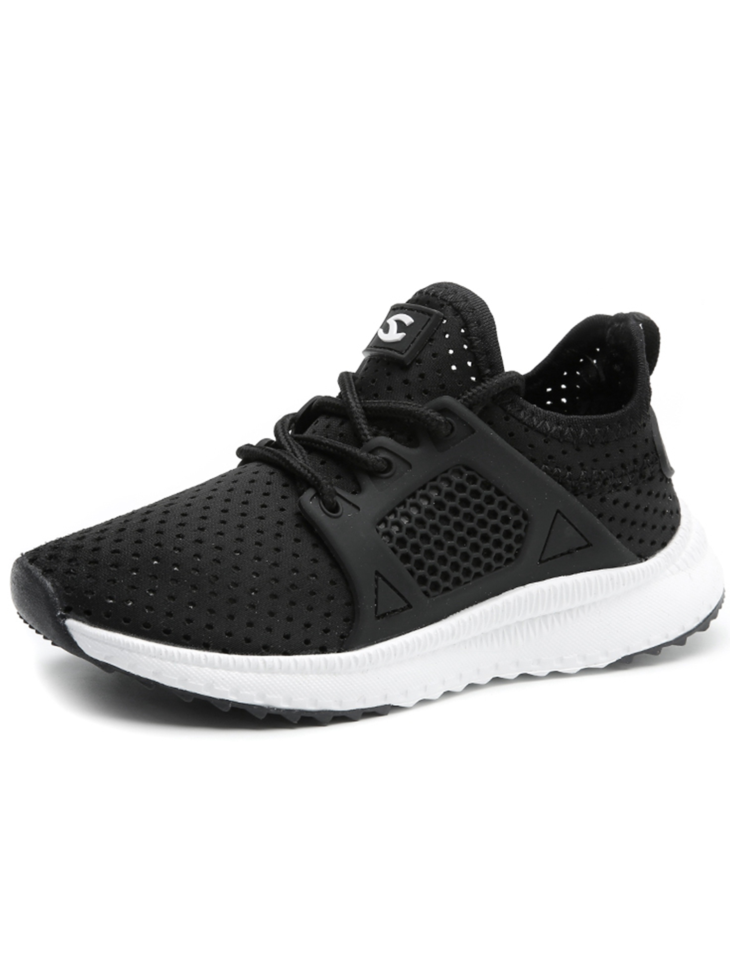 Kids Boys Girls Running Shoes Athletic Comfortable Fashion Lightweight Mesh Slip On Cushion Sneakers
